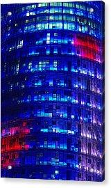 Modern Building At Night Acrylic Print by Ioan Panaite