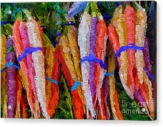 Modern Carrot Painting Acrylic Print
