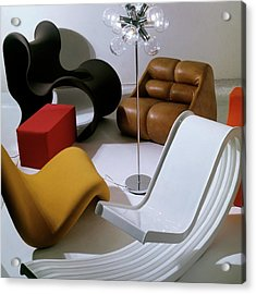 Modern Chairs Acrylic Print by Horst P. Horst