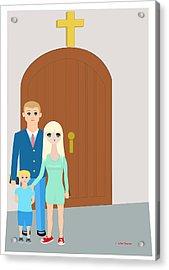Modern Church Family Acrylic Print