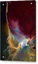 Modern Colorful Earth Tones Abstract Art-achieve The Goal By Kredart Acrylic Print