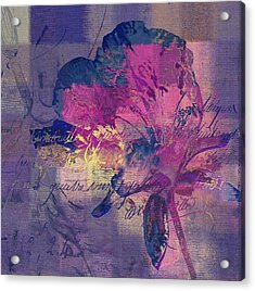 Modern Floral - 072083158 - Mp02b Acrylic Print by Variance Collections