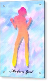 Modern Girl In Abstract Oil Acrylic Print by Tommytechno Sweden
