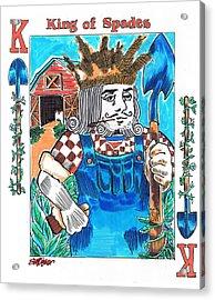 Modern King O' Spades Acrylic Print by Seth Weaver