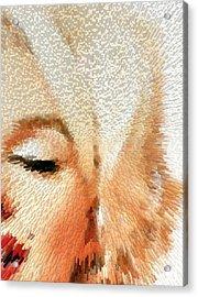 Modern Marilyn - Marilyn Monroe Art By Sharon Cummings Acrylic Print by Sharon Cummings