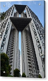 Acrylic Print featuring the photograph Modern Skyscraper Apartment Building Singapore by Imran Ahmed