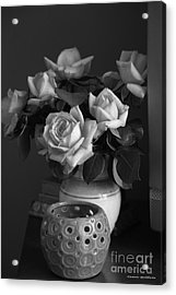 Acrylic Print featuring the photograph Modern Still Life Bw by Tannis  Baldwin