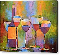 Modern Wine Art ... Wine Party Acrylic Print