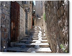 Modified Stairway Acrylic Print by David Rosenthal