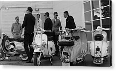 Mods And Suits Acrylic Print