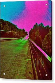 Moffit Bridge And Maple Ridge Rd. Acrylic Print by Daniel Thompson