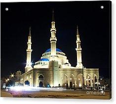 Mohammad Al-amin Mosque In Beirut Lebanon Acrylic Print