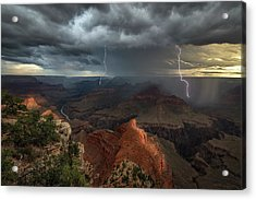 Mohave Point Thunderstorm Acrylic Print