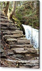 Mohawk Falls Steps Acrylic Print