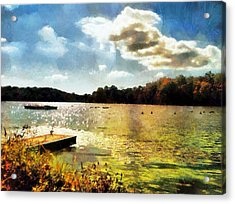 Mohegan Lake Gold Acrylic Print