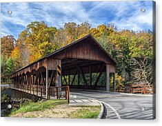 Mohican Covered Bridge Acrylic Print