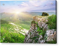 Mointain Beautiful Acrylic Print by Boon Mee