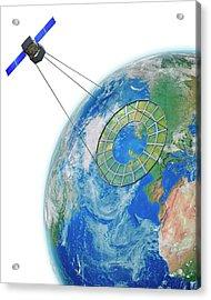 Moire Spy Satellite Acrylic Print by Claus Lunau