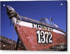 Moises The Fishing Boat Acrylic Print by James Brunker