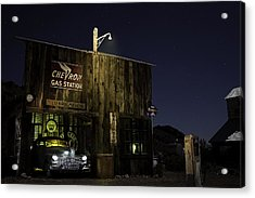 Mojave Nights At The Chevron Gas Station Acrylic Print