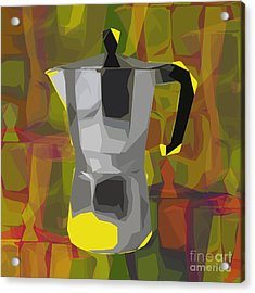 Moka Pot Acrylic Print by Jean luc Comperat