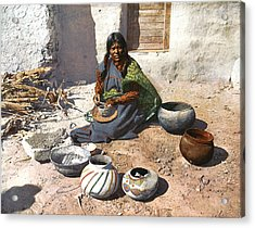 Moki Indian Potter 1899 Acrylic Print by Unknown