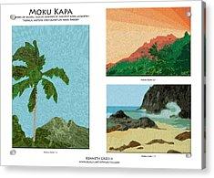 Moku Kapa Poster Acrylic Print by Kenneth Grzesik