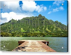 Molii Fishpond 1 Acrylic Print by Leigh Anne Meeks
