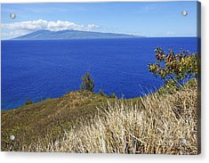 Molokai Island Viewed From Maui Island Acrylic Print by Sami Sarkis