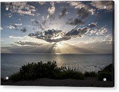 Molokai Sunset Acrylic Print by Charlie Osborn