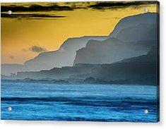 Molokais North Shore Sea Cliffs Acrylic Print