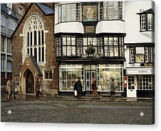 Mols Coffee House From 1596 Cathedral Close Exeter Uk 1980s Acrylic Print by David Davies