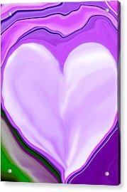 Molten Heart13 Acrylic Print