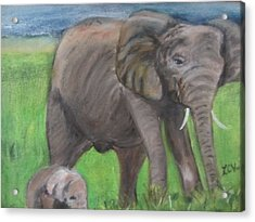 Mom And Baby In Kenya Acrylic Print