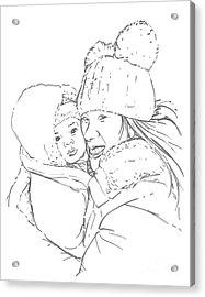 Mom And Baby Acrylic Print by Olimpia - Hinamatsuri Barbu