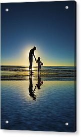 Mom And Daughter Acrylic Print