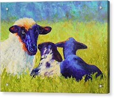 Mom And The Kids Acrylic Print by Nancy Jolley
