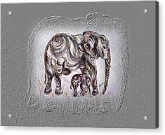 Mom Elephant Acrylic Print