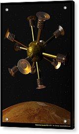 Momentary Sputnik 15  Acrylic Print by Ann Stretton