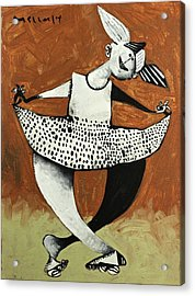 Momentis The Polka Dotted Dancer  Acrylic Print by Mark M  Mellon