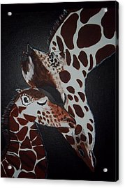 Momma And Baby Acrylic Print by Donna Bird
