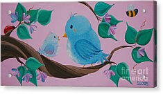 Mommy-baby Birds Acrylic Print