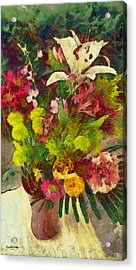 Mom's Flowers Acrylic Print by Spyder Webb