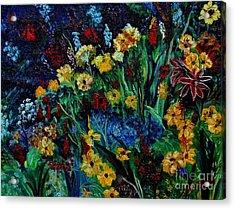 Moms Garden II Acrylic Print by Julie Brugh Riffey