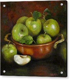 Mom's Last Apple Harvest Acrylic Print by Cheri Wollenberg