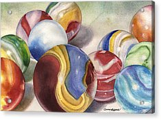 Mom's Marble Shooter Acrylic Print