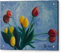 Mom's Tulips Acrylic Print by Beatriz Topete