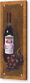Mon Ami Merlot Acrylic Print by Terri  Meyer
