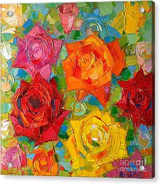 Mon Amour La Rose Acrylic Print by Mona Edulesco