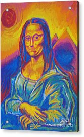 Mona Acrylic Print by Jedidiah Morley
